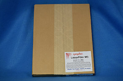 "Kimoto 47838511 Laser Film 8.5"" X 11"" .003 100/box. New"