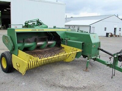 John Deere 338 Square Hay Baler With Thrower Clean
