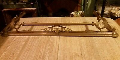 Brass Fireplace Fender Antique Vintage Architectural Hearth Hardware Ornate