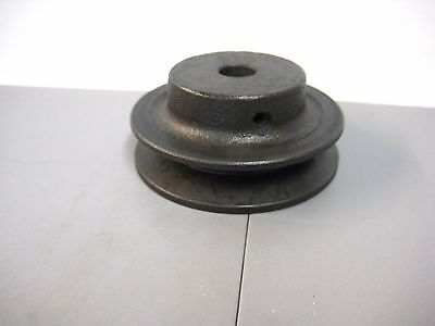 "Cast Iron V-Belt Pulley 1/2"" Bore x 3.0"" OD New"