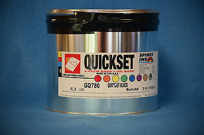 Spinks Quickset Gq780 Oil Base Black Ink 5.3 Lbs. New