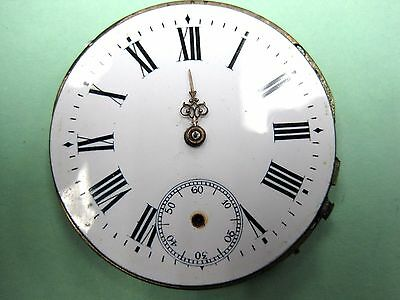 Antique 43 mm Size, Pocket Watch Movement Lever Set key wine .