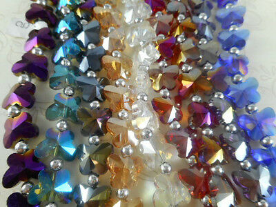 1 Str Butterfly Chinese Crystal Beads (You Pick Color)