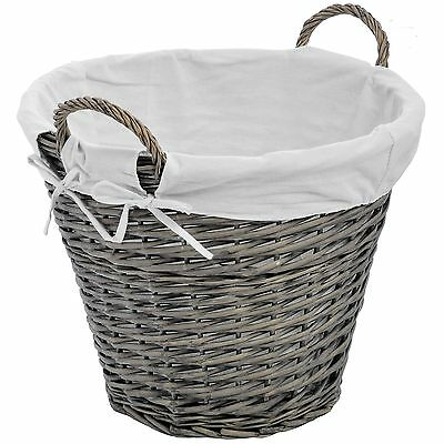 Hill Interiors Lined Wicker Basket
