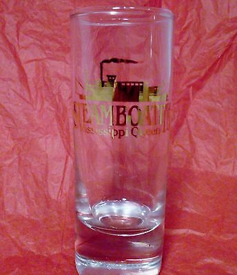 Steamboatin' Shot Glass Mississippi Queen Riverboat Double Shot Souvenir