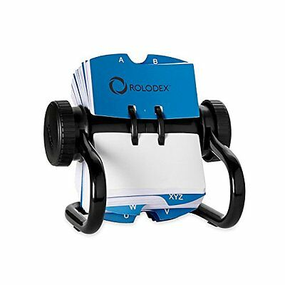 Rolodex Open Rotary Card File With 500 2 1/4 X 4 Inch Cards And 24 Guides