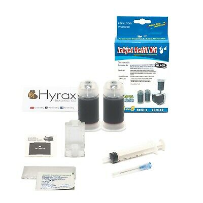 InkPro Black Ink Cartridge Refill Box Kit for HP 61/61XL