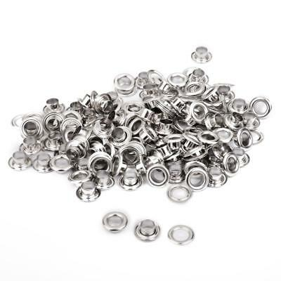 "100x Eyelets Grommet 0.39"" Metal Nickle DIY Rivet Grommets with Washers"