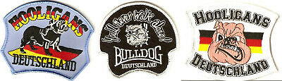 -- Fussball / Fan Aufnäher Patch Badge - Hooligans Bulldoge - Kutte