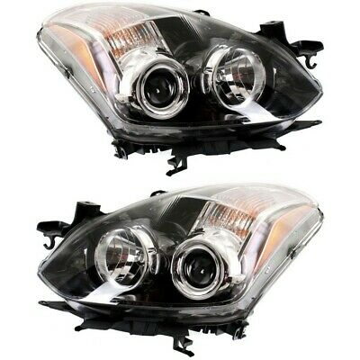 Headlight Set For 2010-2013 Nissan Altima Coupe Left and Right With Bulb 2Pc