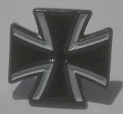 - Pin Anstecker Button Anstecknadel  - EK EISERNE KREUZ / Iron Cross - Biker BW