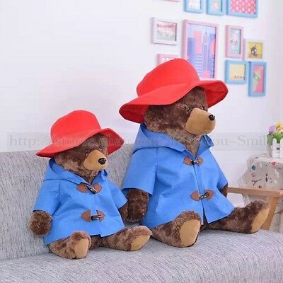 "17"" Cute Sitting Paddington Bear Soft Plush Toy Doll Gift From Movie High 45cm"