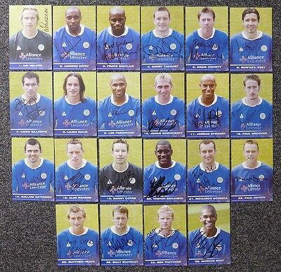 2003-04 Leicester City Signed Official Club Cards - £5 Each
