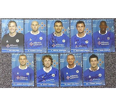 2004-05 Leicester City Signed Official Club Cards - £5 Each