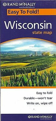 State Map of Wisconsin, Easy to Fold (Laminted & Folded), by Rand McNally