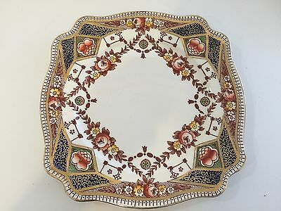 Stafford Royal Staffordshire Porcelain A.J. Wilkinson England Rose Dinner Plate