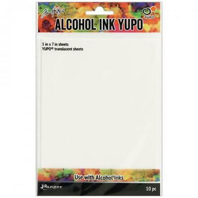 """Tim Holtz Alcohol Ink Transulcent Yupo Paper 10 Sheets-5""""X7"""""""