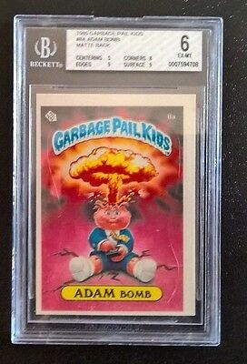 Garbage Pail Kids GPK - 1985 OS1 - 8a Adam Bomb Matte Cheaters - Graded 6 EX-MT