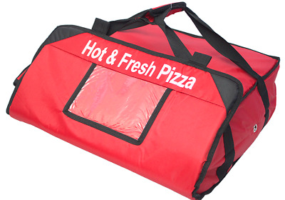 "2 X PIZZA DELIVERY BAGS (20"" X 20"" X 7"") Full Insulated all sides (B&R SJ0011)"