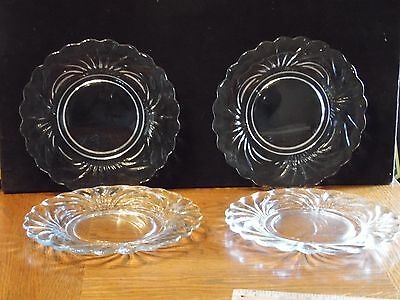 4 Vintage Elegant Clear 8 1/2 Inch Salad Plates Caprice by Cambridge