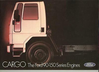Ford Cargo 90 - 150 Series Engines, Truck Lorry Sales Brochure Aug.1982 For 1983