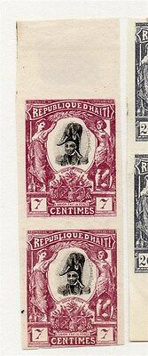 Haiti 1904 Early Issue Fine Mint Hinged 7c. Pair 073467