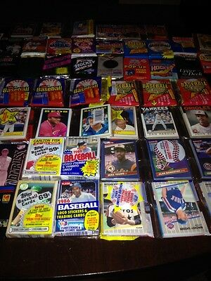 Awesome Lot 600 Unopened Old Vintage Baseball Cards in Wax Cello Rack Packs