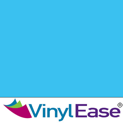 One 12 in x 40 ft Roll Glossy Sky Blue Permanent Craft and Sign Vinyl V0448
