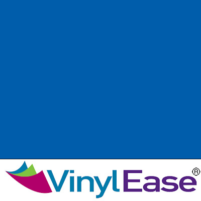 One 12 inch x 40ft Roll Glossy Vivid Blue Permanent Craft and Sign Vinyl V0449