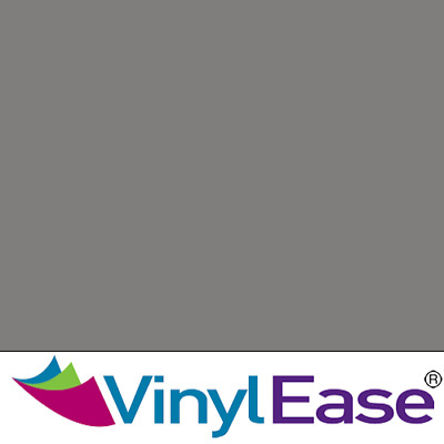 One 12 inch x 40ft Roll Glossy Grey Permanent Craft and Sign Vinyl V0432