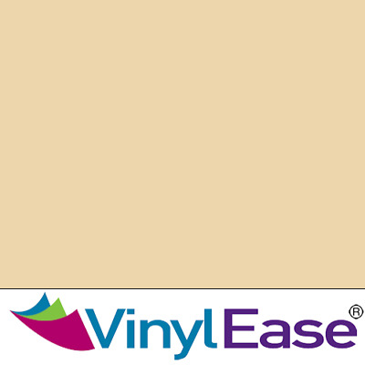 One 12 inch x 40ft Roll Glossy Beige Permanent Craft & Sign Vinyl V0435
