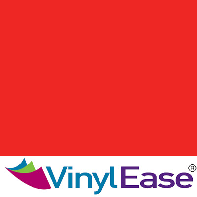 One 12 inch x 40ft Roll Glossy Tomato Red Permanent Craft and Sign Vinyl V0442