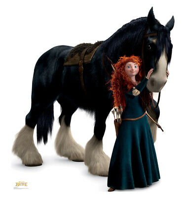 Merida and Angus Brave Life Size Cardboard Cutout Standup Standee