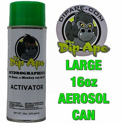 16 oz DIP APE AEROSOL HYDROVATOR HYDROGRAPHICS WATER TRANSFER ACTIVATOR FILM kit