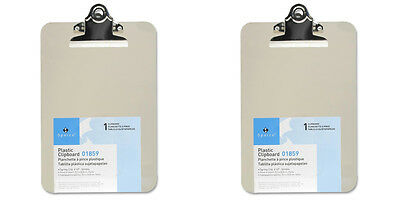 """Mini/Small Transparent Clipboard  (6x9"""") 2 Packs"""