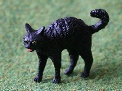 Dolls House Miniature 1/12th Scale Spooky Black Cat