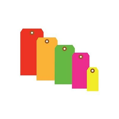 """""""Shipping Tags, 13 Pt., 2 3/4"""""""" x 1 3/8"""""""", Fluorescent Yellow, 1000/Case"""""""