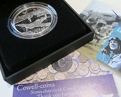 Alderney 2010 Battle Of Britain £5 Silver Proof Crown Boxed/Coa Stunning Coin