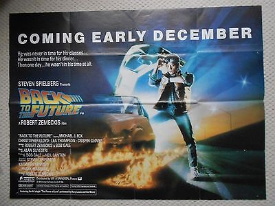 Back to the Future, Original RARE Adv UK Quad Poster, Michael J Fox is Marty '85