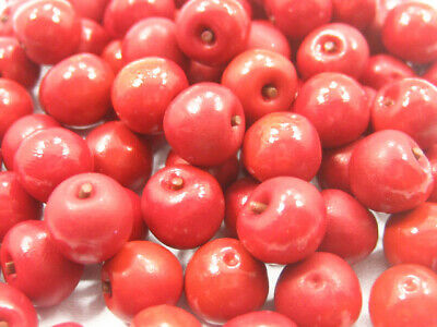 Dollhouse Miniature Food Lot 10 Red Apple Fruit Supply Art Deco For Charms 6879