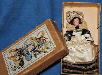 Vintage Le Minor Pont Aven Celluloid French Doll in box 6""