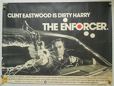 Enforcer, Original UK Quad Poster, Clint Eastwood is Dirty Harry, '77