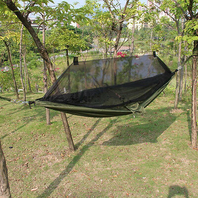 New Army Green Travel Outdoor Camping Hammock Hanging Tent Sleeping Bed w/ Sack