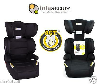 New Infa Secure Vario Create Booster Car Seat 4-8 years Kid Child Infant Black