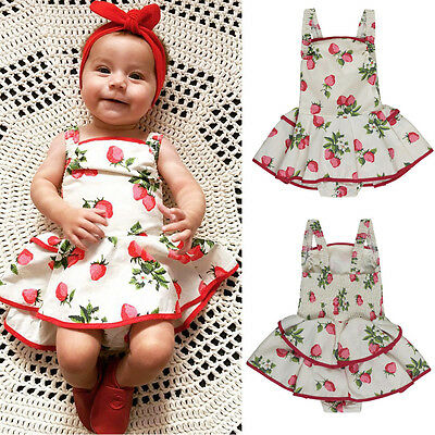 Newborn Infant Kids Baby Girls Romper Dress Bodysuit Tutu Dress Clothes Outfits