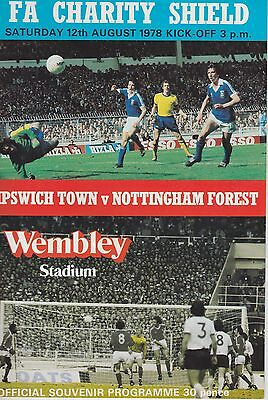 IPSWICH TOWN v NOTTINGHAM FOREST ~ CHARITY SHIELD ~ 12 AUGUST 1978