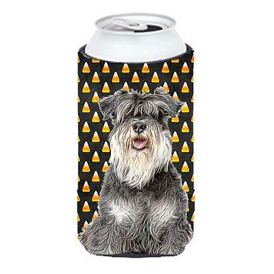 Carolines Treasures Candy Corn Halloween Schnauzer Tall Boy bottle sleeve Hugger
