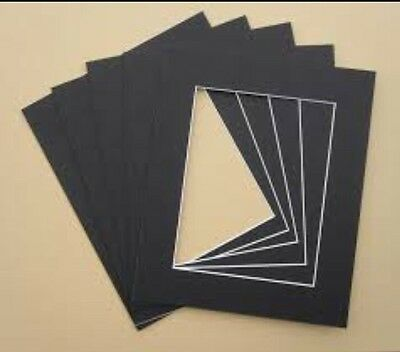 "2 x Professional Picture Framing Mat Boards 16x20"" with A3 Window"