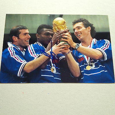 MARCEL DESAILLY (112 FRANKREICH) WELTMEISTER 1998 In-person signed Photo 10x15