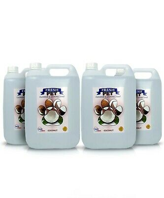 4 X 5L FRESH PET Kennel/Cattery Disinfectant, Cleaner, Deodoriser - COCONUT